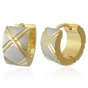 """Diamond cut"" Goldplated ørering (1 stk.)"