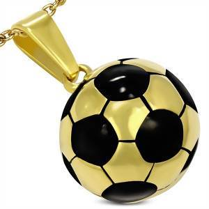 "Halskjede ""Golden Football"" Rustfritt stål."