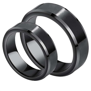 Black Kope Engagement Ring Tungsten