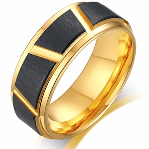 TXM Tungsten Ring matt gull